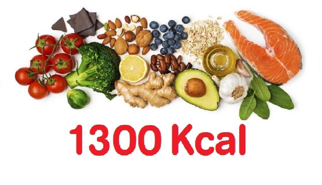 dieta 1300 calorias