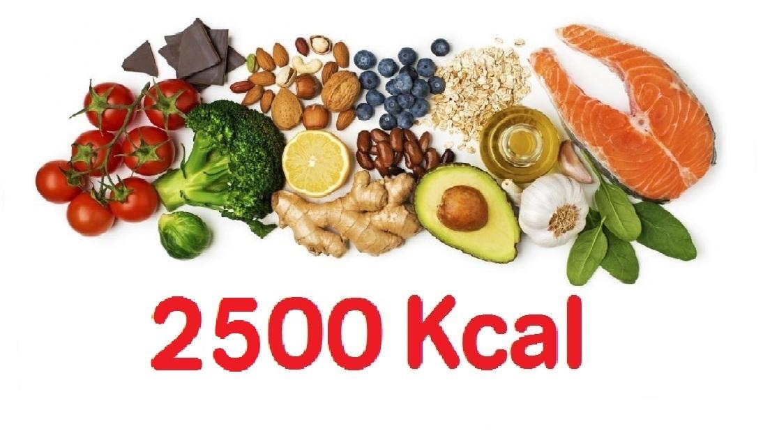 Dieta 2500 calorias